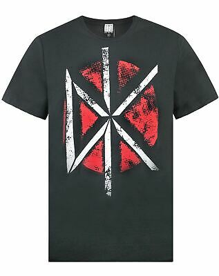 Dead Kennedys Logo with Back Print T Shirt Mens Licensed Rock N Roll Band Black