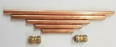 15mm Copper Plumbing Pipe Repair Kit & Compression Couplers Various Lengths DIY