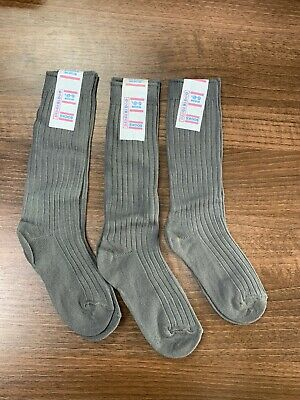 Multipack of 3 Pairs Of Boys girls grey socks Foot size 6-8.5 New