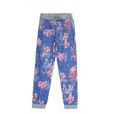 Leg Casual Floral Trousers Loose Wide Girls Waist Ladies Pants Exercise