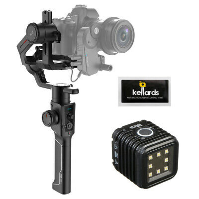 Moza Air 2 3-Axis Handheld Gimbal Stabilizer w/ LitraTorch Video Light & Wipes