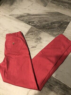 JOULES Hesford Soft Cotton Stretch Cropped Chinos, Rosehip Sz US 2 $70 RETL