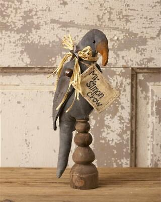 """New Primitive Rustic Black MR SIMON CROW DOLL ON SPINDLE Make Do 11"""""""