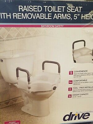 Drive  Elevated Raised Toilet Seat with armrest