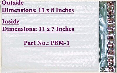 """21 PBM-1, Poly Bubble Cushioned Envelope Mailers  7"""" x 11"""" ID"""