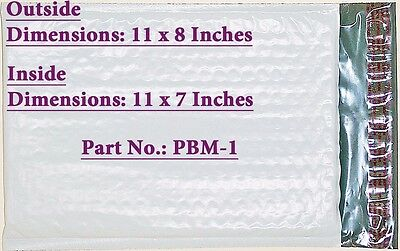 """30 PBM-1, Poly Bubble Cushioned Envelope Mailers  7"""" x 11"""" ID"""