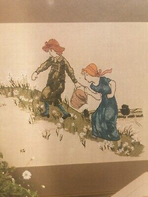 "VTG  RARE The 'Kate Greenaway' Series:  ""Jack and Jill"" by Twilleys Needlecrafts"
