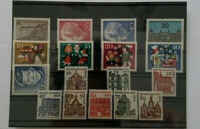Germany BERLIN Complete Year 1964 Stamp Set Mint Never Hinged MNH German Stamps