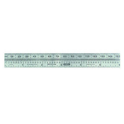 """General Tools 311ME 6"""" Flex SS Rule, mm-inch 16ths and 32nd Grads"""