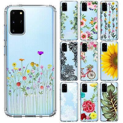 Samsung Galaxy S20 Plus Ultra NOTE 10 Plus 5G S10 S9 S8 Flower Leaves Case Cover