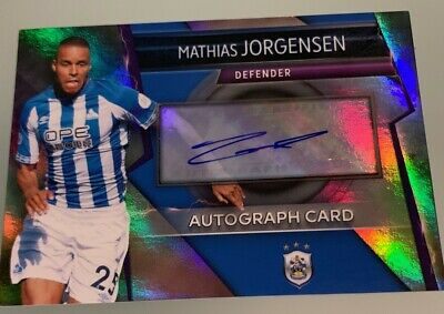Match Attax Ultimate 18/19 Rare Autograph Card Mathias Jorgensen Huddersfield