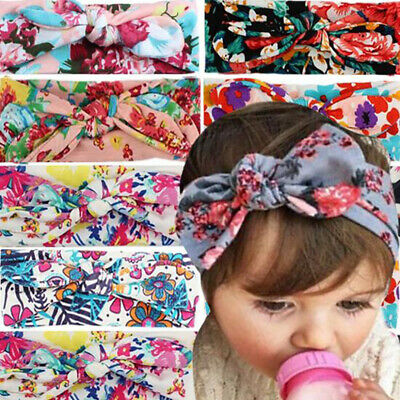 Girls Kids Baby Toddler Rabbit Bow Knot Turban Headband Hair Band HeadwrapGCAU