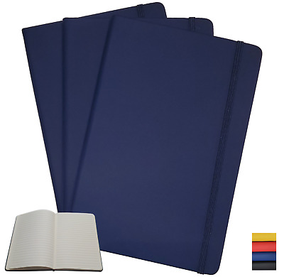 Hardcover Notebook Journal 3 Pack - A5 Size - Choice of Color  **Free Shipping**