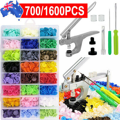 1500PCS+ Plier Tool for KAM Snap Kit T5 Plastic Snaps Fastener Button Press Stud