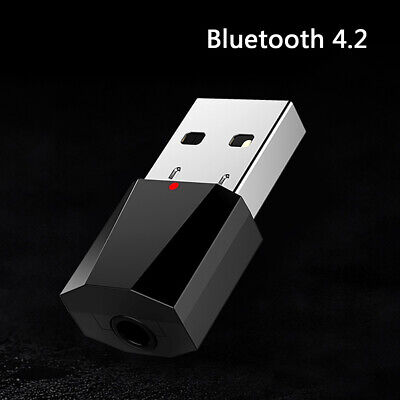 USB Wireless Bluetooth 4.2 3.5mm Audio Stereo Receiver for Car AUX Speak KY