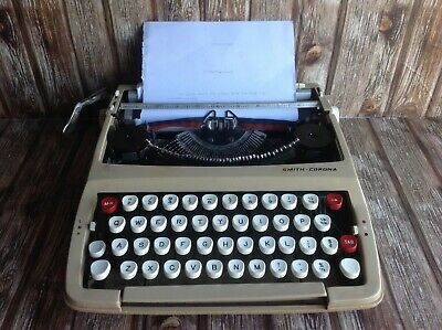 Vintage Smith Corona Typewriter - Working - Includes Hard Cover