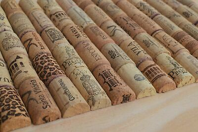 100 halves Assorted of used Corks All 100% cork for Crafts Pre-Cut Wine Cork