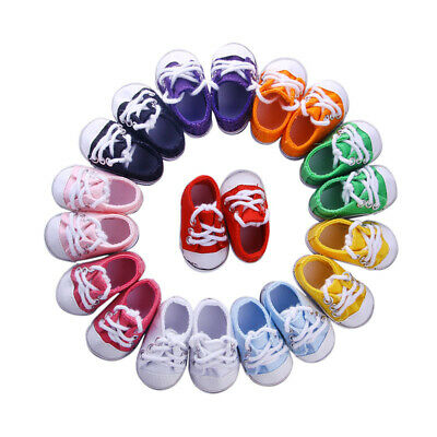 6CM Canvas Shoes Doll Shoes Hot Handmade Accessories Fits   American Girl Doll