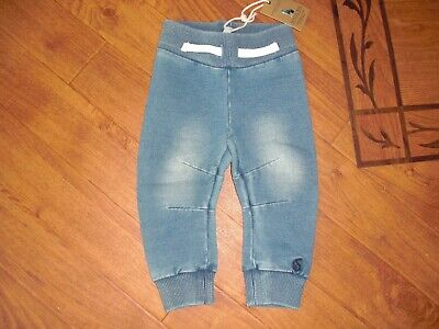 BNWT JOULES BABY BOYS DENIM SOFT JERSEY JOGGERS 0-3 MONTHS.rrp £12.95