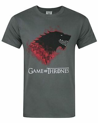 Game Of Thrones Stark Bloody Direwolf Men's T-Shirt Charcoal