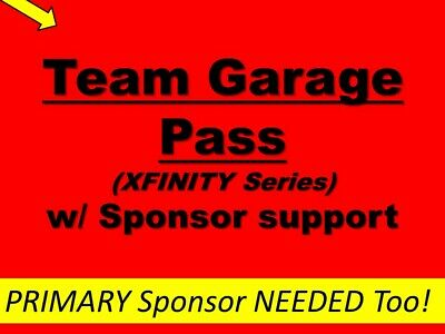 Daytona 2020- Sponsor Support of NASCAR Xfinity Team w/ sponsor garage pass