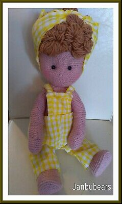 Land Girl Doll, thread jointed janbubears. One of a kind 17 inch.