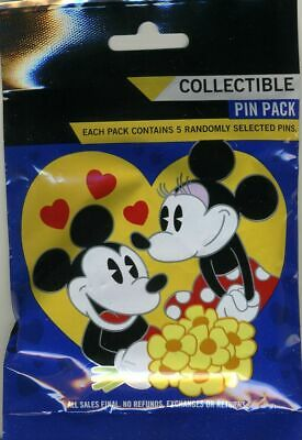 Disney Collectible Pin Pack Sweethearts Couples Mystery Bag 5 Pins Sealed NEW