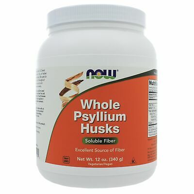 NOW Foods Whole Psyllium Husks 12 Ounces NL0115