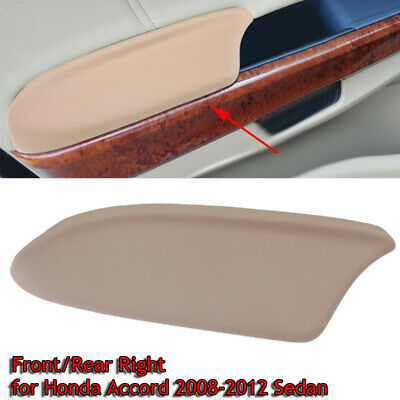 Right Door Panel Armrest Leather Synthetic Cover for Honda Accord 08-12 Beige