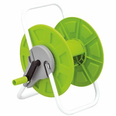 Portable 60m Reinforced Tough Garden Hose Pipe Reel Cart Trolley Free Standing