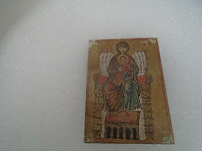 Enthroned virgin and child Russian - Byzantine icon plaque  11th century replica