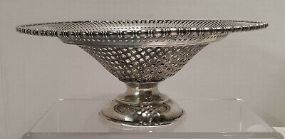 Antique Lawrence B. Smith Sheffield Silverplate Reticulated Footed  Candy Dish