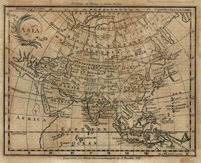 Asia Saudi Arabia China 1793 Amos Doolittle scarce American-produced map