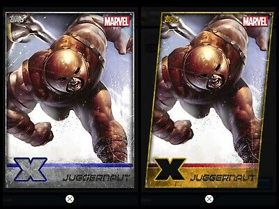 Topps MARVEL COLLECT DIGITAL Card X-MEN WEEKLY GOLD DIE-CUT + SILVER JUGGERNAUT