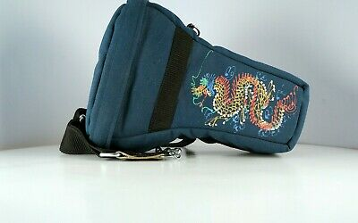 Vintage camera and lens carry case with dragon motif