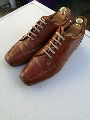 Men's SUTOR MANTELLASSI 100% Leather, Tan Lace-up Sneaker Trainers UK 9 (43)