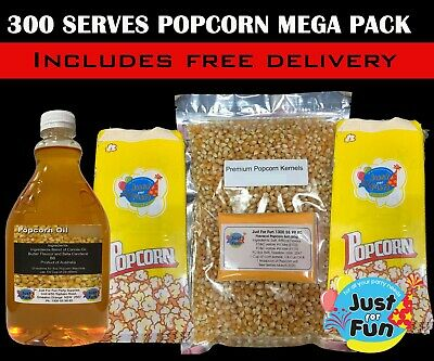 300 Serves Popcorn MEGA Pack Makes 300 bags of Popcorn, Popcorn Salt Popcorn Kit