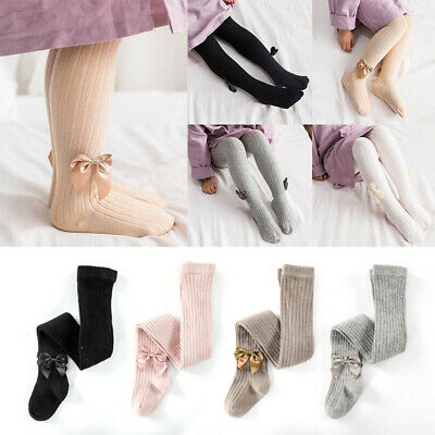 Baby Girls Kids TIGHTS BOWS Soft Cotton Warm Opaque Age 0-8Years Socks Tights