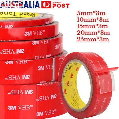 3M High strength VHB Adhesive Tape Transparent Clear Acrylic Double-sided 4 Size