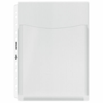 NEW! Rexel Nyrex Extra Capacity Pocket A4 Clear Pack of 5 13680