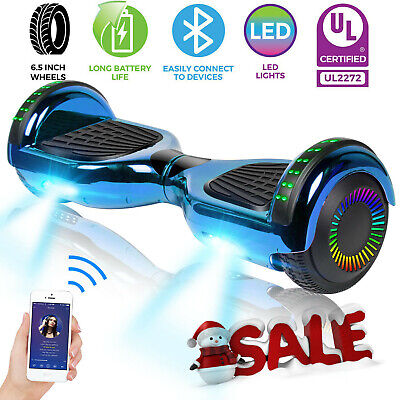 6.5'' Self Balance Hover Board Bluetooth Speaker LED Scooter no Bag For Kids