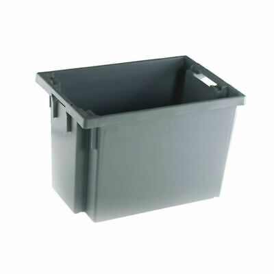 NEW! Solid Slide Stack/Nesting Container 600X400X400mm Grey 382976