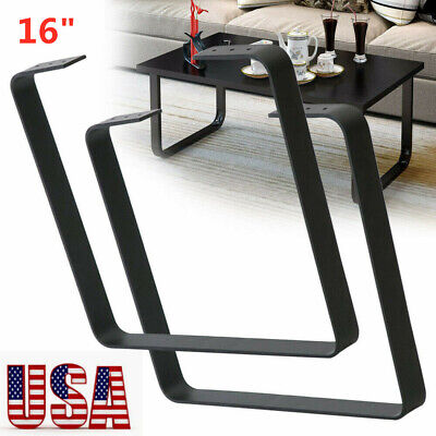 2PC 16'' Industry Table Leg Metal Steel Chair Bench Legs DIY furniture Black USA