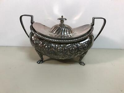 Antique Meriden Silver Soup Tureen Ornate Quadruple Plate # 1886