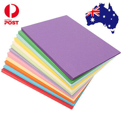 100 x 120gsm A4 Coloured Card Cardboard DIY Craft Paper Making Cardstock Premium