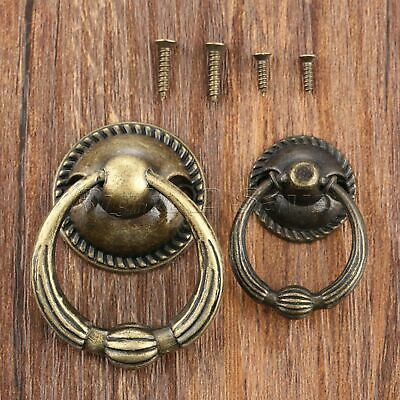 Single Hole Bookcase Cabinet Knob Ring Furniture Drawer Dresser Door Pull Handle