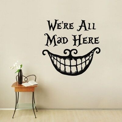 We're all Mad Here Alice In Wonderland Vinyl Decal Sticker for Car Home Decor ZB