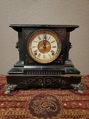 Vintage Antique Ansonia Mantel Clock 1882