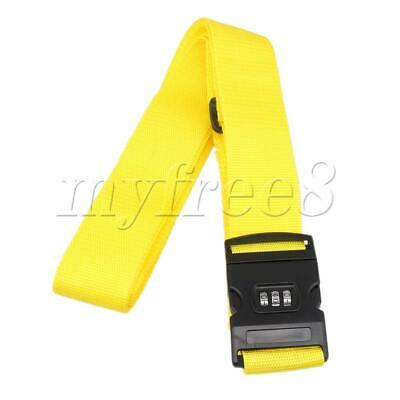 Locking Tie Luggage Strap for Luggage Suitcase with Password 5CM Yellow