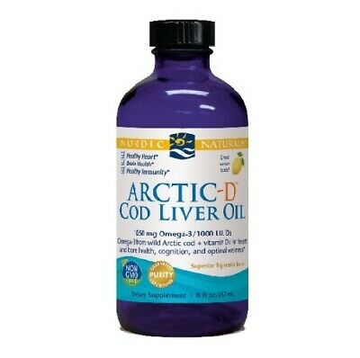 Nordic Naturals Arctic-D Cod Liver Oil, Lemon - 237 ml.